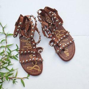 Sam Edelman Size 6 Studded Gladiator Sandals